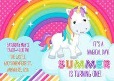 Résultats de recherche d'images pour « unicorn birthday invitation »