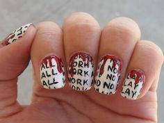 All work and no play makes Jack a dull boy. The shining manicure. Awesome