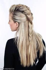 viking ponytail women - Google Search Faux Hawk Hairstyles, No Heat Hairstyles, Work Hairstyles, Ponytail Hairstyles, Viking Hairstyles, Wedding Hairstyles, Pretty Hairstyles, Dressy Ponytail, Short Hair Ponytail