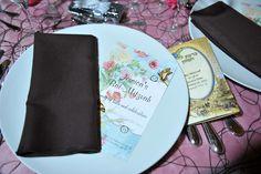Alice In Wonderland Party - Bat Mitzvah Table Menu