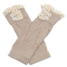 "Binmer(TM)Little Girl Leg Warmers Children Socks Fashion Straight Tube Boot Cover (Khaki). 100% brand new and high quality. Material:90% Cotton,10% Spandex. Length:22cm/8.66"". For 3-6 year old children wear. Make your baby become more fashionable,attractive,beautiful,your kids will like it very much."