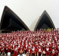 Annual Santa Fun Run ~ Sydney Opera House