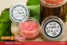 A natural and lasting lip and cheek stain is perfect for beauty lovers who want to protect their skin! For more DIYs, tune in to Home & Family weekdays at on Hallmark Channel! Home And Family Crafts, Home And Family Hallmark, Family Tv, Diy Beauty, Beauty Tips, Beauty Stuff, Beauty Secrets, Beauty Cream, Lip Stain