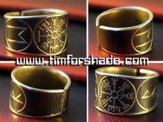 Viking's Vegvisir Rune adjustable ring by TimforShade on DeviantArt