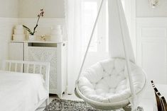 [ Bedroom Design Hanging Chair Girls Sets Furniture Stunning Bedrooms With Swing Chairs Home Lover ] - Best Free Home Design Idea & Inspiration Kids Bedroom Dream, Bedroom Swing, Cool Kids Bedrooms, Bedroom Chair, Kids Hanging Chair, Hanging Beds, Swinging Chair, Indoor Hanging Chairs, Diy Hanging