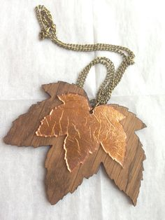 Items similar to Oak Copper Leaf Necklace on Etsy Leaf Necklace, Pendant Necklace, Hair Today, Dark Wood, My Etsy Shop, Copper, Unique Jewelry, Bronze, Leaves