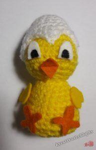 Horgolt (amigurumi) kiscsibe - Kreatív+Hobby Alkotóműhely Rubber Duck, Tweety, Pikachu, Toys, Fictional Characters, Bari, Amigurumi, Tejidos, Activity Toys