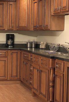 New Coffee Glazed Maple Cabinets