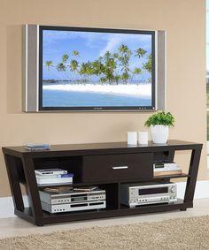 Cappuccino Modern TV Stand #zulily #zulilyfinds