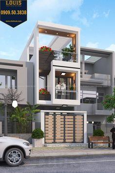15 Mẫu nhà ống rộng đẹp nhất hiện nay Minimal House Design, Modern Small House Design, Modern Exterior House Designs, Home Modern, Modern House Plans, 3 Storey House Design, Bungalow House Design, House Front Design, Modern Bungalow