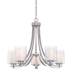 View the Minka Lavery 4105-84 5 Light Single Tier Chandeliers from the Parsons Studio Collection at LightingDirect.com.