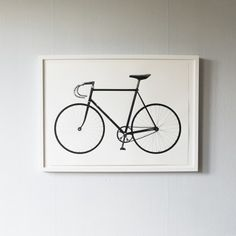 """A classic old-school racer bike with a story. This print is based on the bike that Eddie Merckx used for his """"Hour Record"""" 1972 in Mexico City. Bike Poster, Screen Print Poster, Typography Poster, Quote Posters, Limited Edition Prints, Old School, Screen Printing, Illustration Art, How Are You Feeling"""