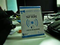Social media sticker using NFC examvoice.com