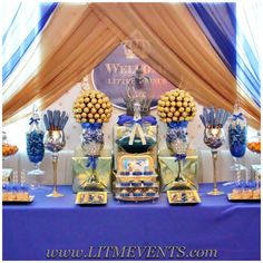 Royal Prince, Royal Prince Baby Shower, Candy Buffet, Sweets Table, Royal Candy…