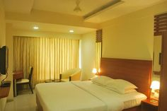 Interior view of the luxurious Deluxe rooms at Graciano Cottages, #Goa. The ambiance here is comfy. :)
