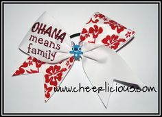 Disney Cheer Bows, Cheerleading Cheers, Ohana Means Family, Cute Bows, Lilo And Stitch, Disneyland, Crafting, Bling, Dance