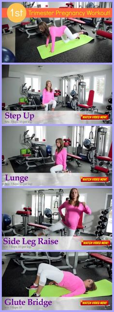 FITNESS VIDEO ALERT  - 1st-Trimester Pregnancy Workout  A detailed 25-minute pregnancy workout