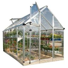 Palram Snap and Grow 6 ft. x 12 ft. Silver Polycarbonate - The Home Depot - Morgann J - Palram Snap and Grow 6 ft. x 12 ft. Silver Polycarbonate - The Home Depot - Diy Greenhouse Plans, Greenhouse Farming, Homemade Greenhouse, Outdoor Greenhouse, Cheap Greenhouse, Portable Greenhouse, Mini Greenhouse, Aquaponics Diy, Aquaponics System