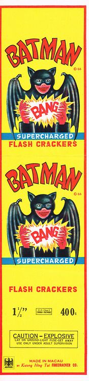 Batman Firecracker Pack Label 400's