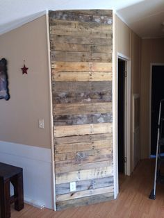 My attempt at a wood pallet wall