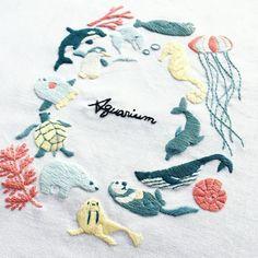 毎日暑いです☀️ でも、夏が好きなので今年は早くから暑くて嬉しいです。 (夏が長くなる) ・ ・ ・ #刺繍 #手刺繍 #刺しゅう #ハンドメイド #자수 #ししゅう #手作り #手芸 #刺繡 #丁寧な暮らし #趣味 #趣味の時間 #刺绣 #embroidery #자수 #вышивка #broderie #手作り #手芸 #刺繡 #刺繍部 #bordado #日々のこと #おうち時間 #暮らしを楽しむ #日々の暮らし #丁寧な暮らし #水族館 #アクアリウム #aquarium #シャチ #ペンギン #マンボウ #ラッコ #クラゲ
