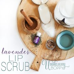 Lavender Lip and Face Scrubs with Essential Oils | Unskinny Boppy