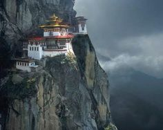 The Chagri Dorjeden Monastery, first monastery in Bhutan, established in 1620.
