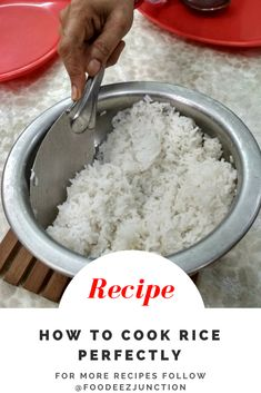 How to Cook Rice Recipe FoodeezJunction.com