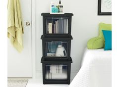 Rubbermaid All Access Organizers are great in dorm rooms to provide extra storage and easy access!