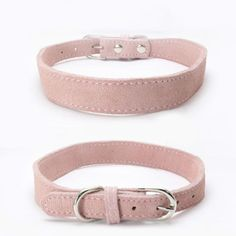 Afco Dog CollarDouble Layers Cow Suede Neck Strap Buckle for Puppy Pet Cat Adjustable size XS Rose Red *** Visit the picture link more information. (This is an affiliate link).