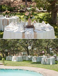 backyard wedding peach color