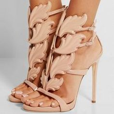Metallic Winged Gladiator Sandals