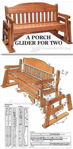 Woodworking with easy wood projects plans is a great hobby but we show you how to get started with the best woodworking plans to save you stress & cash on your woodworking projects Woodworking Furniture Plans, Woodworking Projects That Sell, Woodworking Wood, Woodworking Skills, Porch Glider Plans, Outdoor Furniture Plans, Rustic Furniture, Garden Furniture, Wood Plans