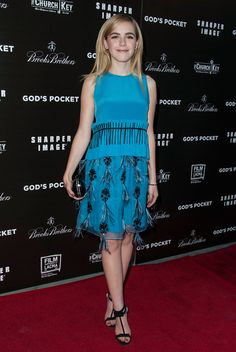 Kiernan Shipka blue dress