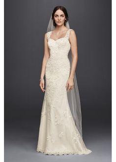 Petite Lace Wedding Dress with Tank Straps 7WG3816