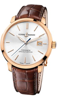 ULYSSE NARDIN Classico  www.ChronoSales.com for all your luxury watch needs, sign up for our free newsletter, the new way to buy and sell luxury watches on the internet. #ChronoSales