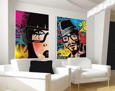 Colorful pop art image interior design