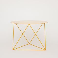 "octahedron side table yellow - available in 11 colors. 24"" round."