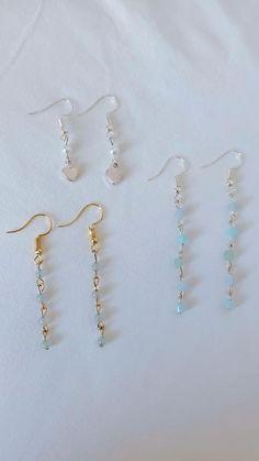 Ear Jewelry, Bead Jewellery, Jewelry Shop, Fashion Jewelry, Jewelry Crafts, Diy Earrings Pearl, Beaded Earrings, Handmade Wire Jewelry, Earrings Handmade