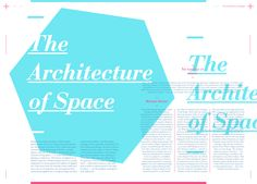 Layout and grid project consisting of a double page design for a journal article.