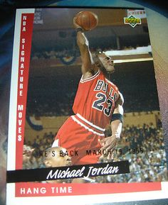 MICHAEL JORDAN 1995 HE'S BACK MARCH 19 1995 BASKETBALL CARD #237 ~ BULLS