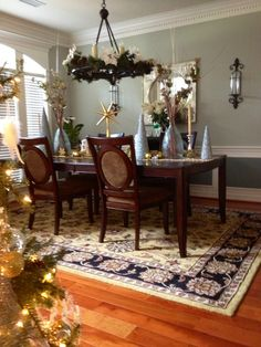 My table! #christmas #tablescape #holiday