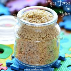Nuts Powder Recipe for Babies - ASmallBite Baby Food Recipes, New Recipes, Dry Container, Toddler Meals, Toddler Food, Cutlets Recipes, Mash Recipe, Paneer Recipes, Kitchens