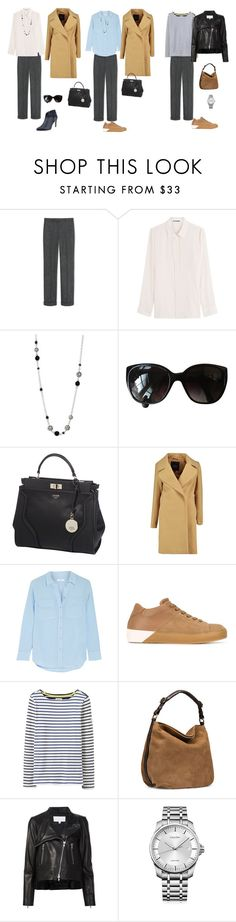 """""""the base wardrobe"""" by yelena-lorich ❤ liked on Polyvore featuring Jil Sander, John Hardy, Chanel, GUESS, Equipment, LEATHER CROWN, Joules, UGG, Veronica Beard and Calvin Klein"""