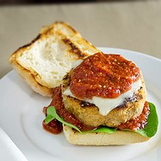 The always excellent chicken parmesan... in the form of a burger.  #foodgawker