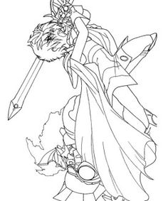 magic knight rayearth coloring page 24 - Knight Coloring Pages 2
