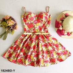Cuba Floral Bustier Dress