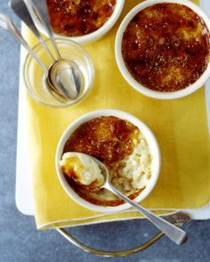 Caramelized Rice Puddings: Like creme brulee and rice pudding had a delicious dessert baby.