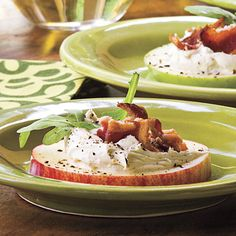 Bacon-Arugula-Apple Bites - Holiday Appetizer Recipes - Southern Living - Top-Rated Holiday Appetizers