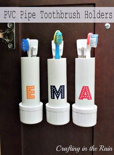 PVC Pipe Toothbrush Holders :: Crafting in the Rain